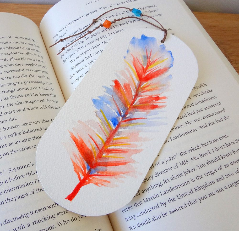 Watercolor bookmarks - Watercolor Bookmark