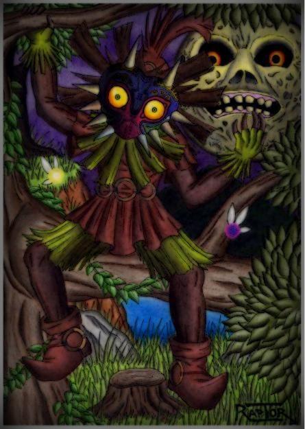 Skull kid -Zelda Majora's mask- by raptorthekiller.deviantart.com on @deviantART