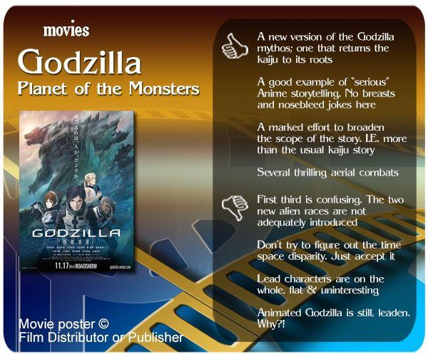 Movie Review of Godzilla: Planet of the Monsters.
