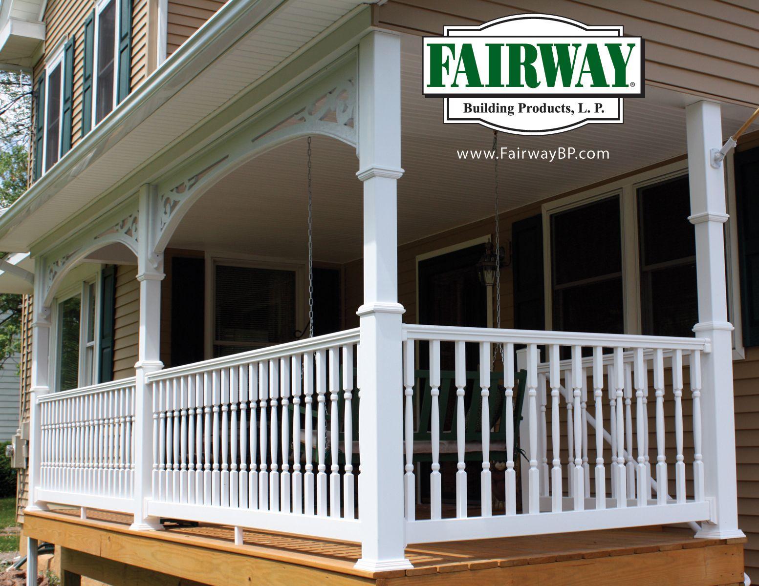 Porch and Deck Railing Vinyl Composite Aluminum Railing