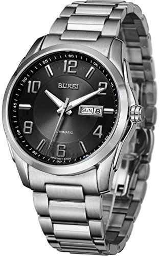 BUREI Men's BM-5023-51E Pioneer Day and Date Automatic Stainless Steel Silver Watch Burei http://www.amazon.com/dp/B00SFTUR3S/ref=cm_sw_r_pi_dp_u5Vnvb16AW9ZE
