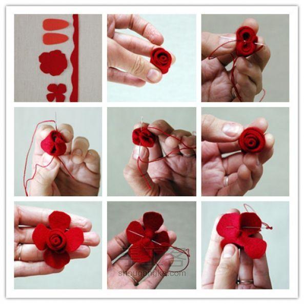 Faça Você Mesmo - Presilhas com rosas de feltro