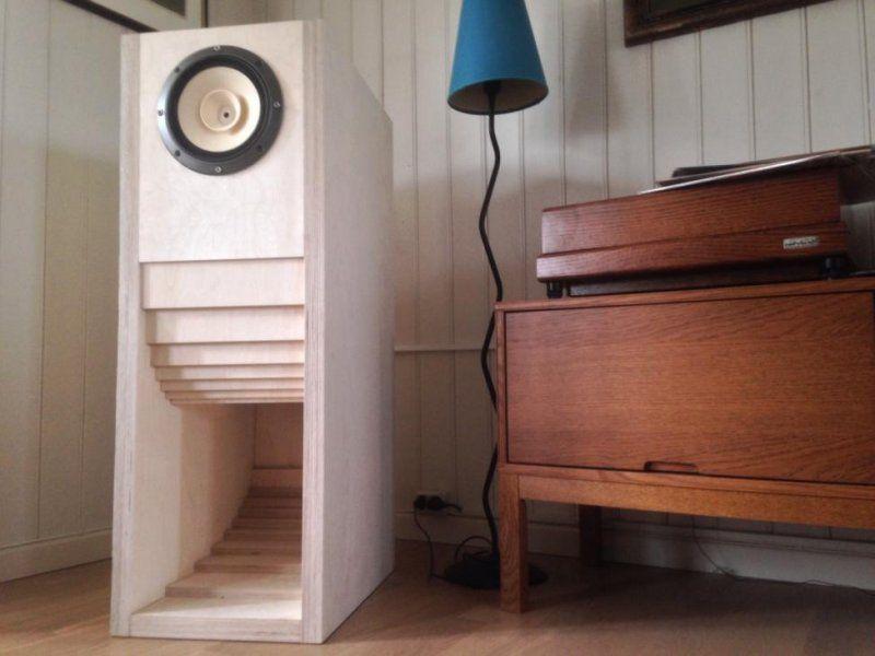 Fostex in a horn loaded cabinet, surely DIY. | Speaker box ...