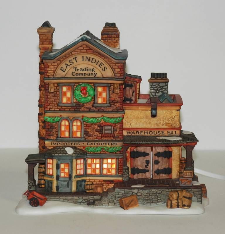 """DEPT 56 Dickens' Christmas """"EAST INDIES TRADING CO""""  #58302 Retired 1999 MIB"""