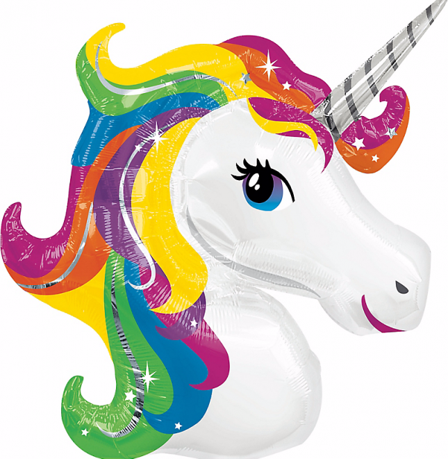 You need a rainbow unicorn balloon for your Lisa Frank-themed party ...