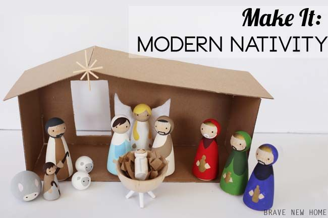 Wooden Diy Nativity Set For A Modern Holiday Diy Nativity Nativity Crafts Nativity Set