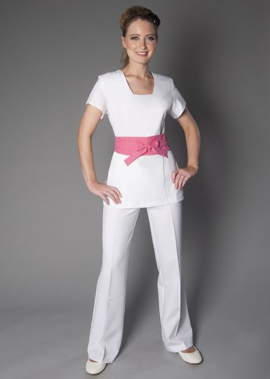 Luxury spa uniforms discontinued discontinued jaleco for Spa uniform online