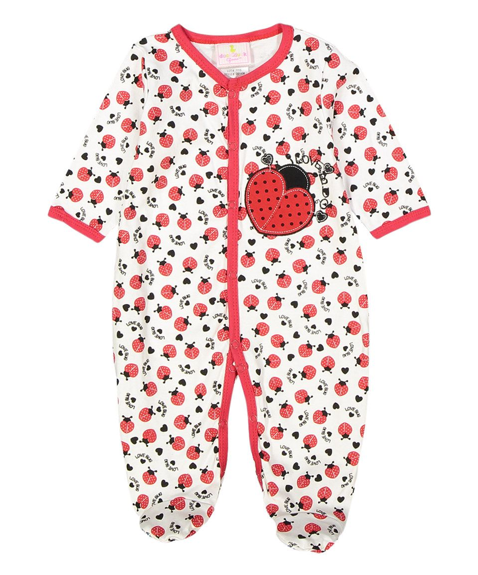 Another great find on #zulily! Duck Duck Goose Red Ladybug Footie by Duck Duck Goose #zulilyfinds