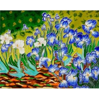Decorative Accent Tile Captivating Overstockart Van Gogh Irises Ceramic Wall Tile  Artyvick Review
