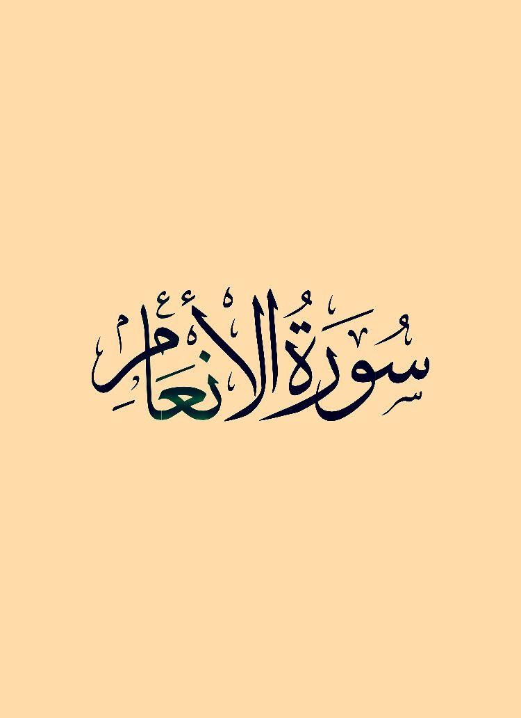 سورة الأنعام قراءة ماهر المعيقلي Calligraphy Arabic Calligraphy