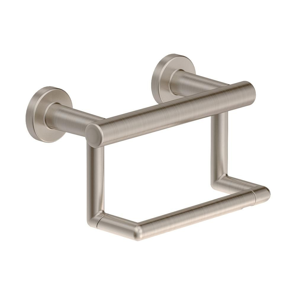 Symmons Dia Wall Mounted Toilet Paper Holder In Satin Nickel 353gbtp Stn Wall Mounted Toilet Toilet Paper Holder Nickel Pedestal Toilet Paper Holder
