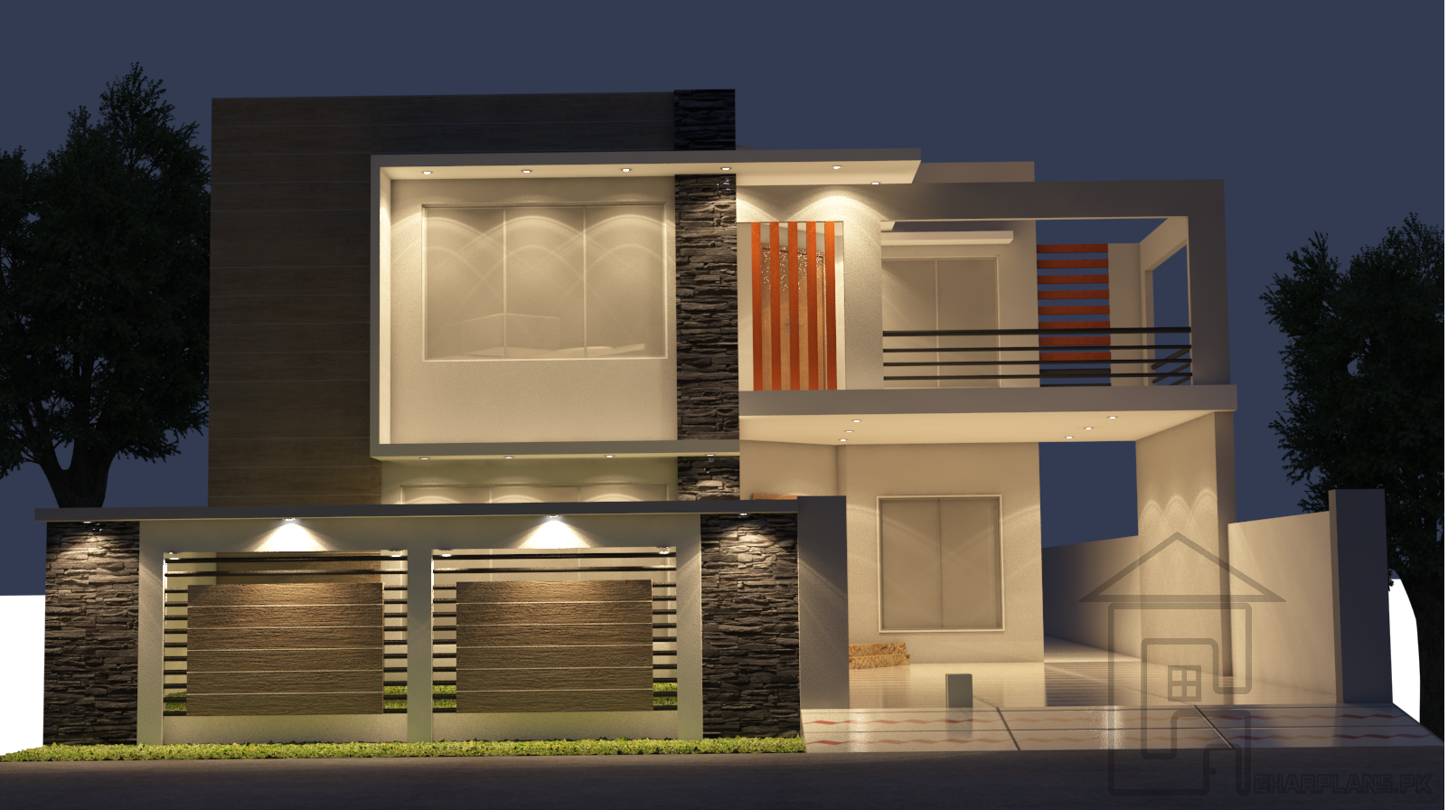 Front Car Porch Elevation : Front design and elevation in lahore pakistan