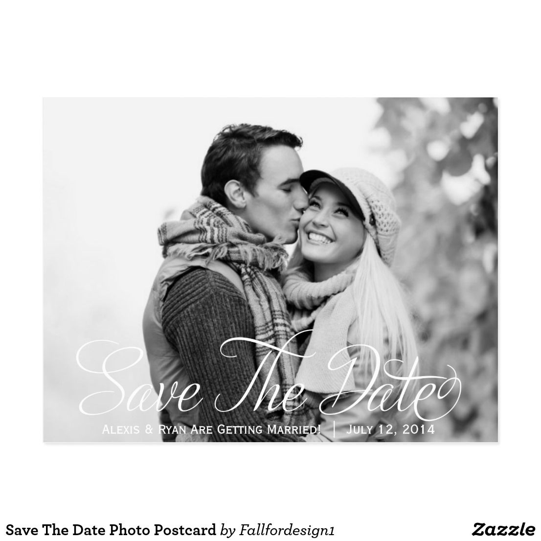 Save The Date Photo Postcard   Photo postcards, Rsvp and Wedding