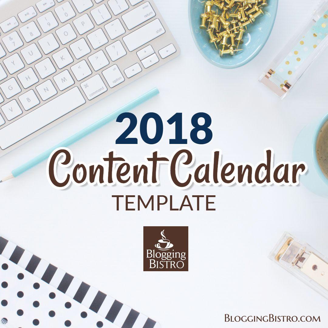 2019 Content Calendar Template Free Download Social Media