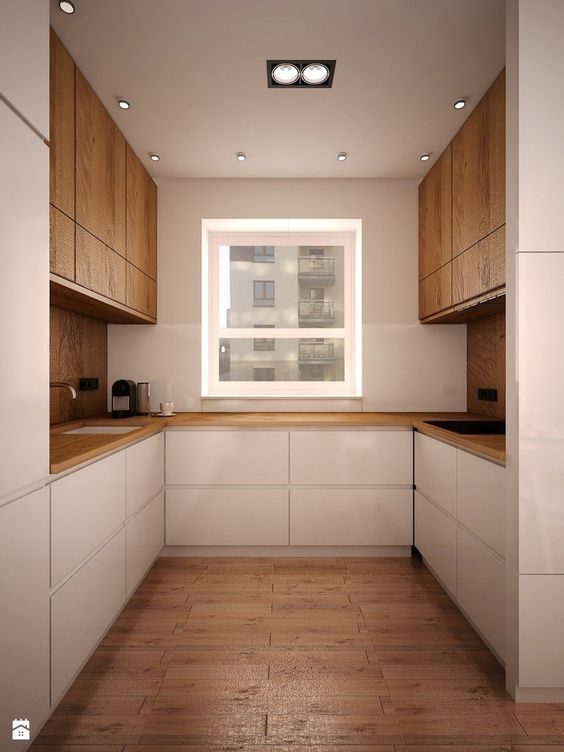 9 Fascinating Ideas for Practical U-shaped Kitchen #opengalleykitchen