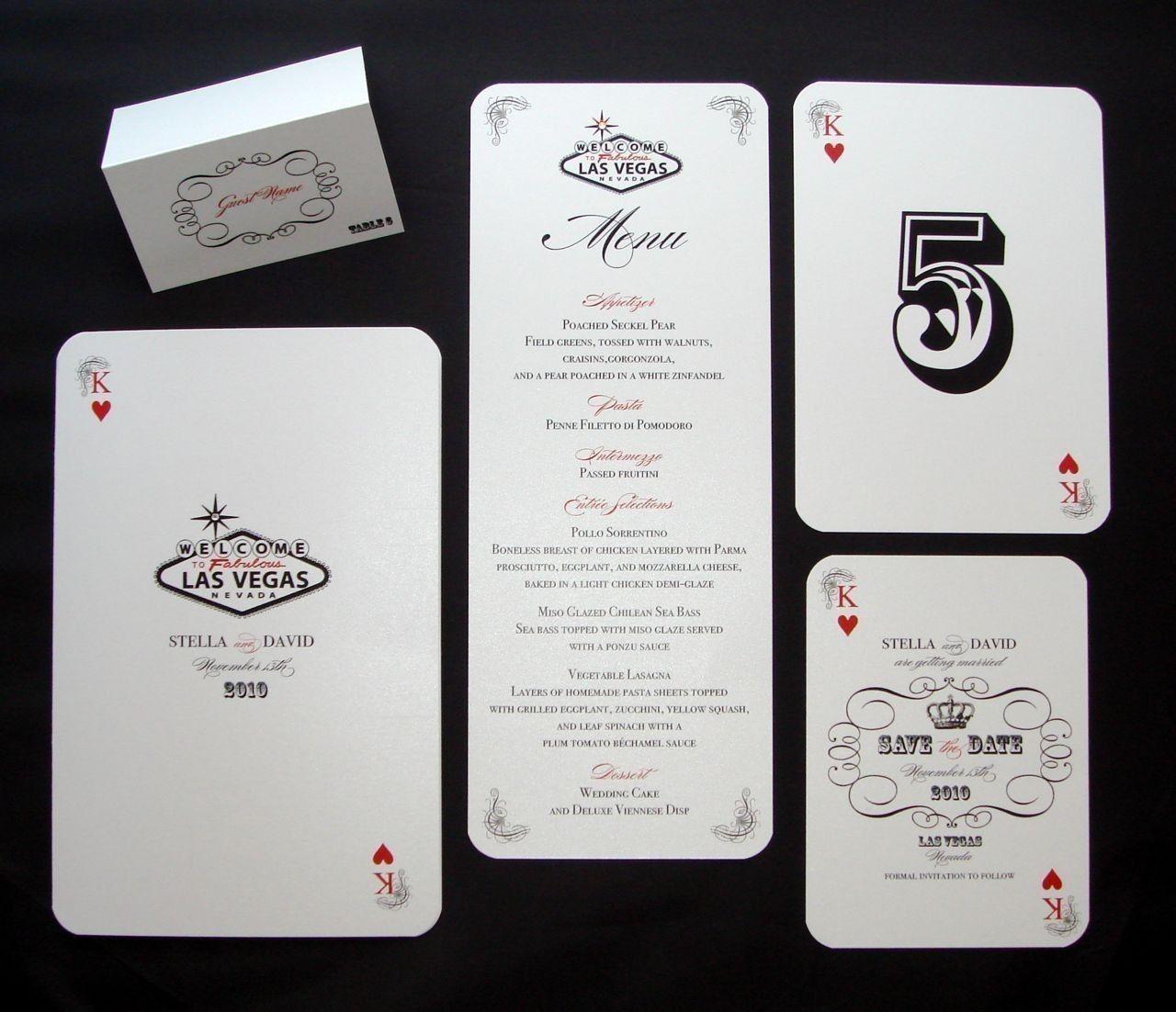 Stella Las Vegas Destination Wedding Save the Date Sample - Playing ...