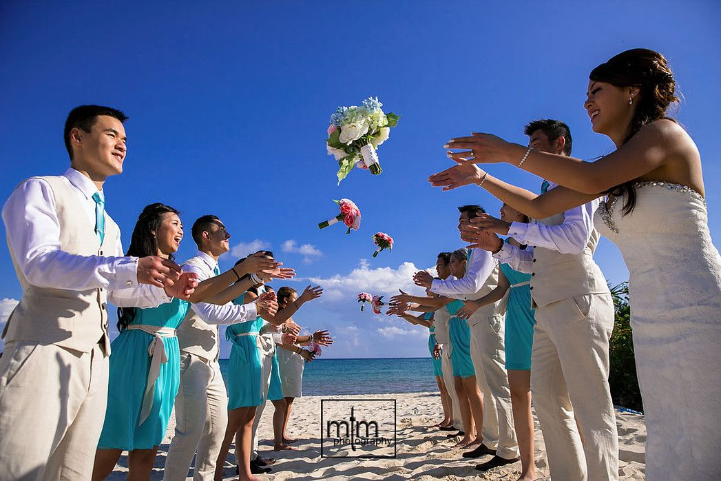 Unique bridal party ideas Paradisus Playa del