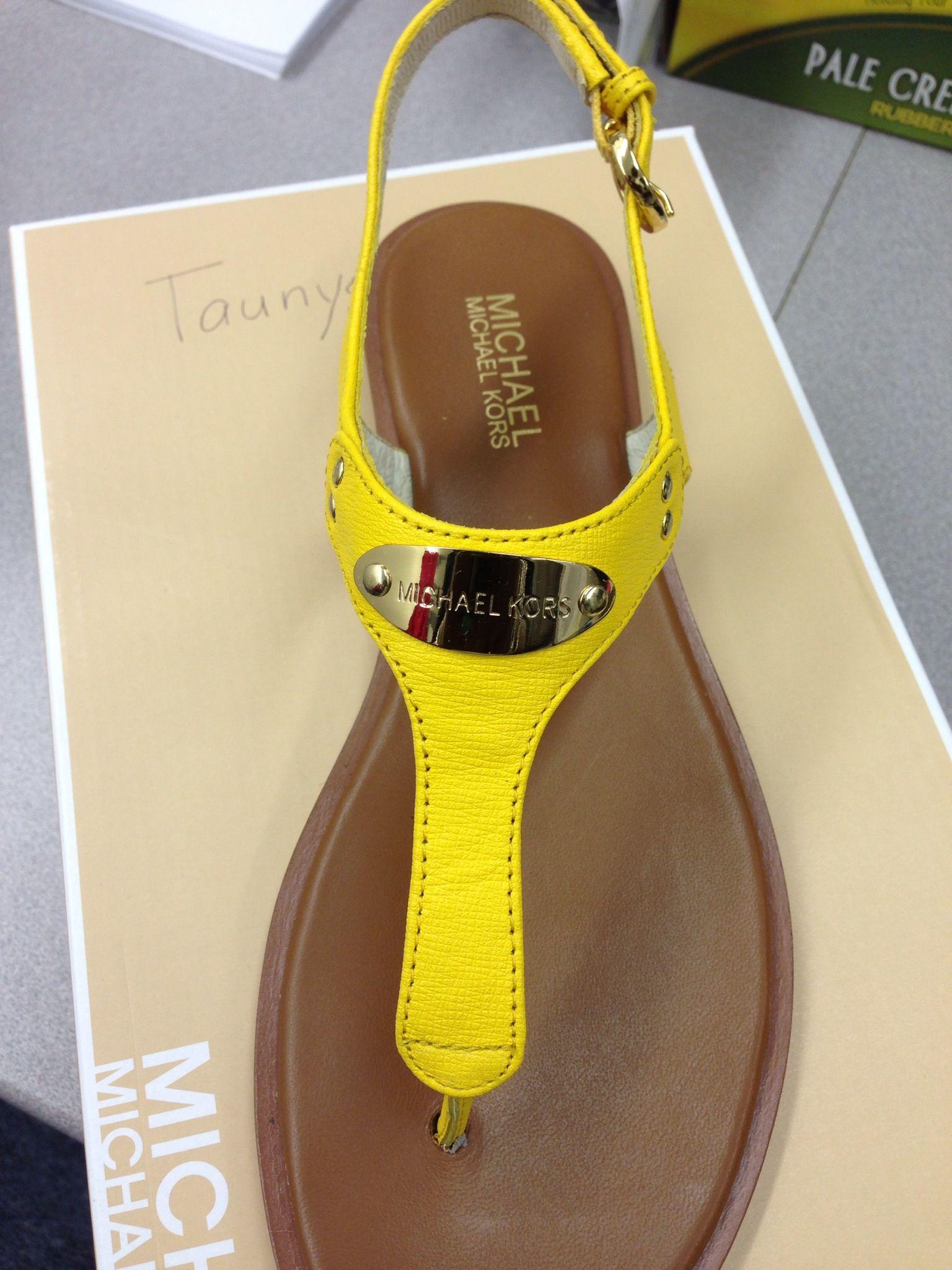 Yellow MK Sandal!