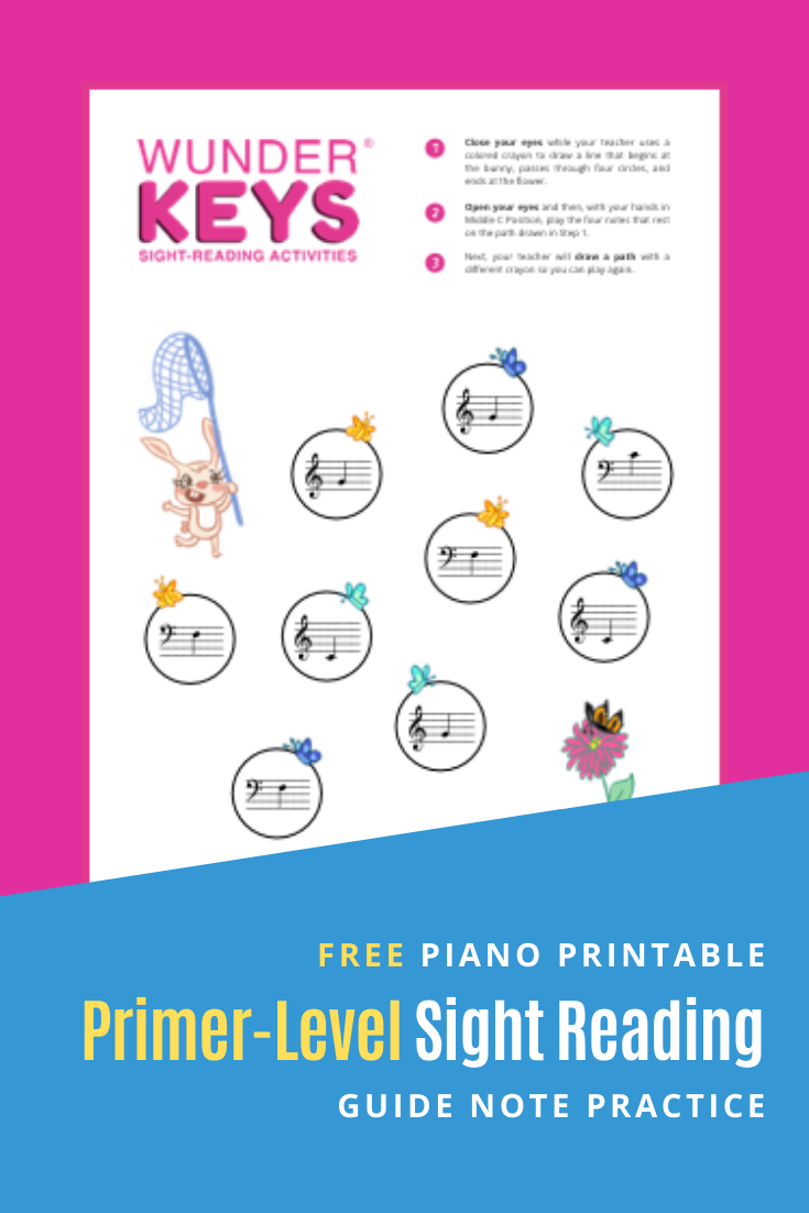 Butterfly Bunny Sight Reading (Primer in 2020 Piano