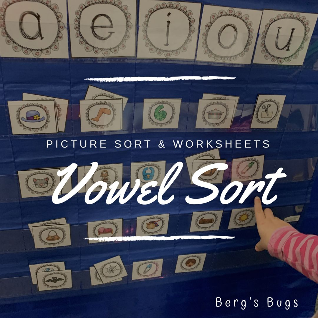 Vowel Picture Card Sort And Worksheets Medial Sounds