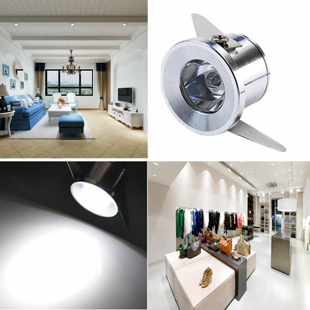 10 X 1w Led Mini Spot Encastre Plafond Lampe Chambre Cupboard Gallery 6000k 220v Ebay Recessed Ceiling Lights Downlights Small Cabinet