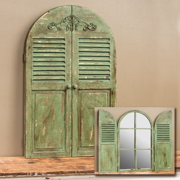 """Arched Window Mirror   Mirror Wall Art - 21"""" x 34"""" - I have a similar one in red!"""
