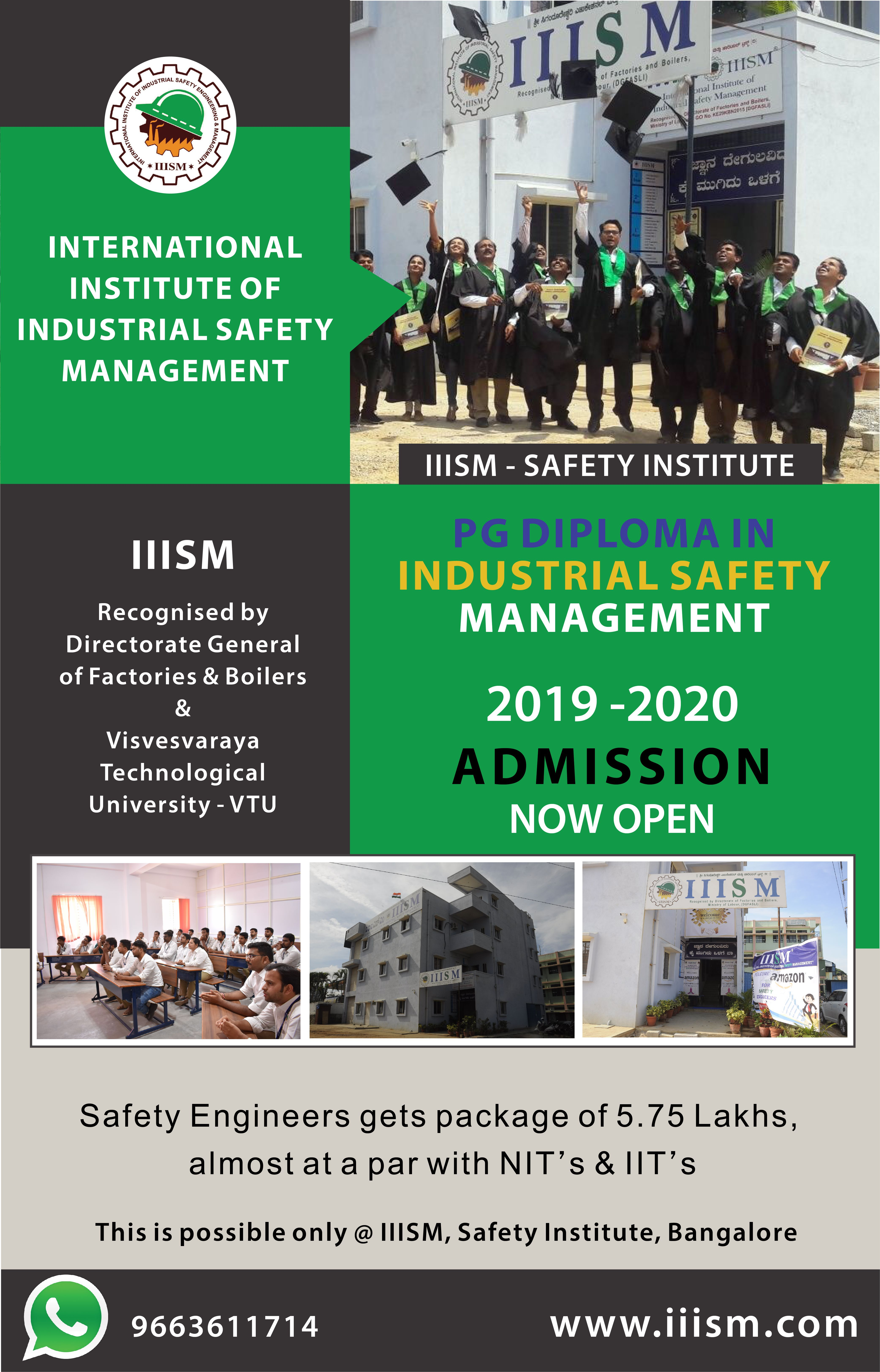 ADMISSIONS OPEN General management, Industrial safety