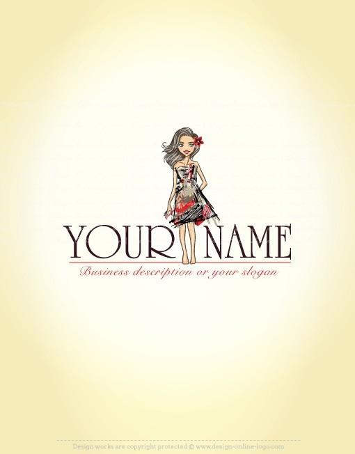 Exclusive Design Girl Fashion Logo Compatible Free Business Card Free Business Cards Fashion Logo Design Fashion Logo