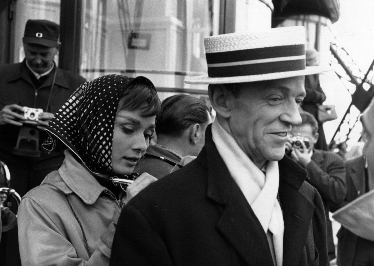 Audrey Hepburn and Fred Astaire. {I have to wonder who the autograph is for.}