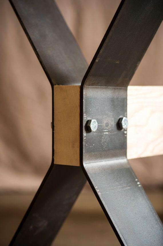 Estilo de caballete acero mesa piernas env o gratis for Muebles industriales metal baratos