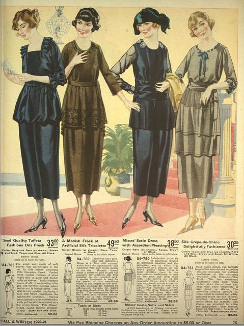 Eaton\'s Catalogue for 1920-21: Young Ladies Dresses (Plate 1 of 4 ...