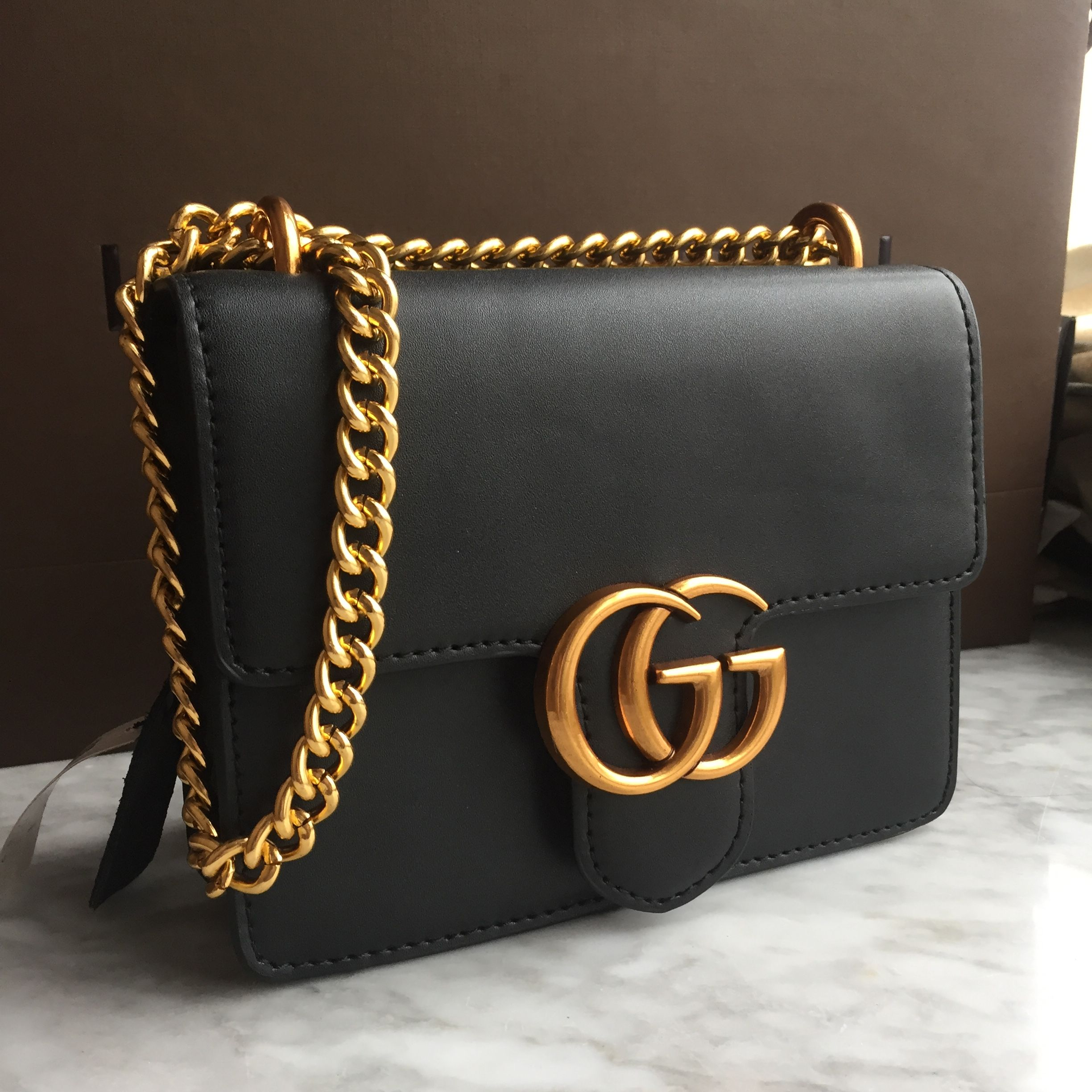 b9cee9c995b Gucci marmont woman chain flap bag small size