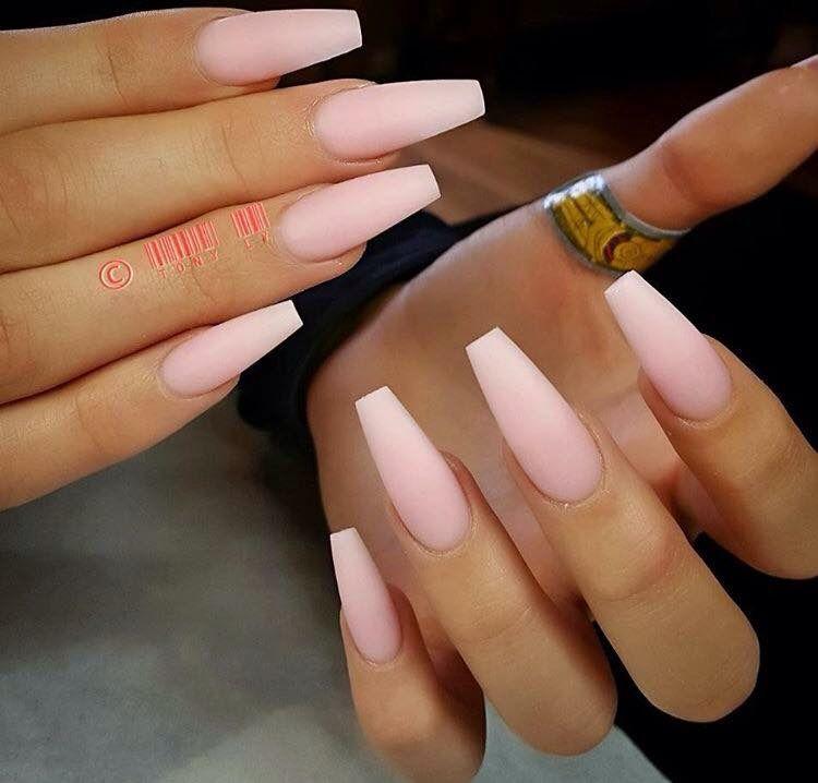 Full Set Full Set Nail Designs Matte Nails Coffin Nails Matte Pink Ombre Nails Pink Nails Acrylic Nail Shapes
