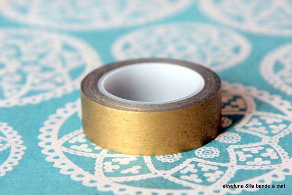 Masking tape/bande adhésive (or,dorée)15mm x 10m deco Noel