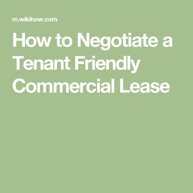 Negotiate A Tenant Friendly Commercial Lease  Coffeehouse