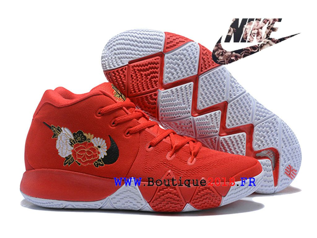 buy popular 839cd e9c0a Nouveau Nike Kyrie 4 City Guardians de BasketBall Pas Cher Pour Homme Rose  rouge  jaune