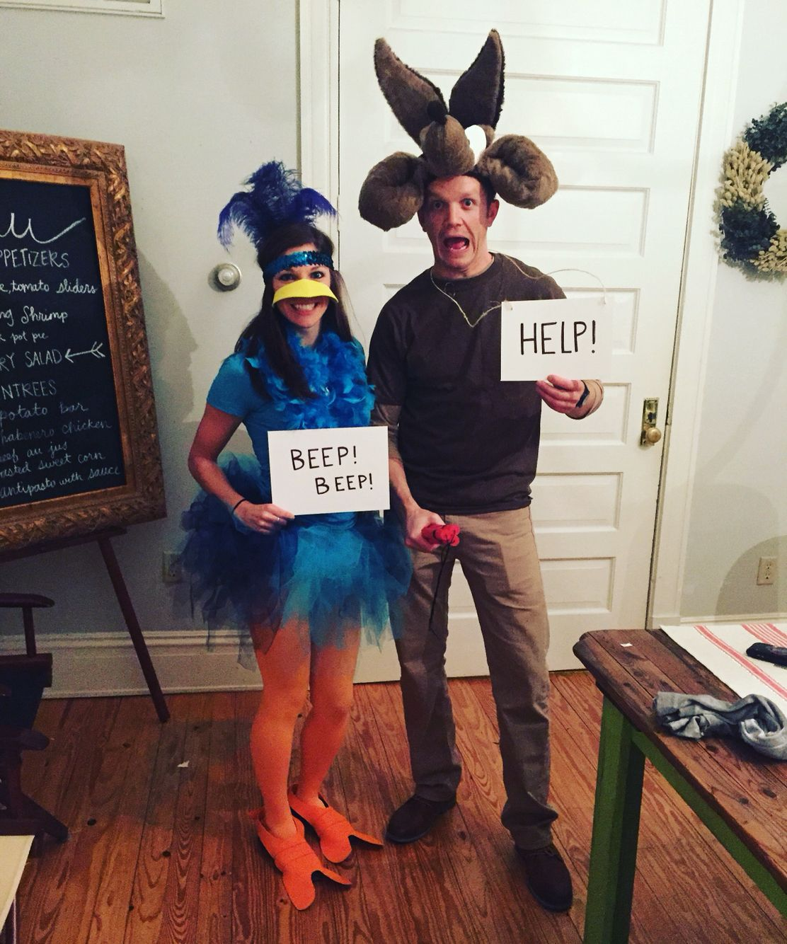 Roadrunner and wile e coyote Halloween costume!! | Crafty ...