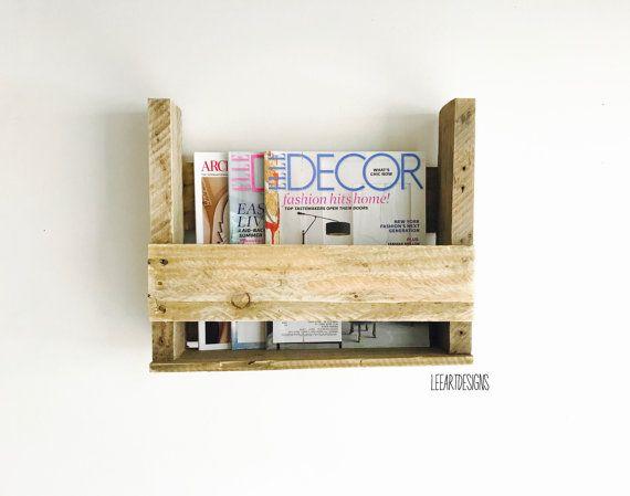 Pallet Shelf Wine Rack Magazine Rack Rustic Decor Book