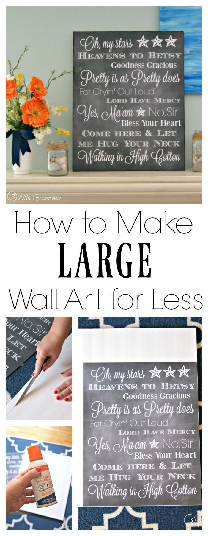 How to Make Large Wall Art for