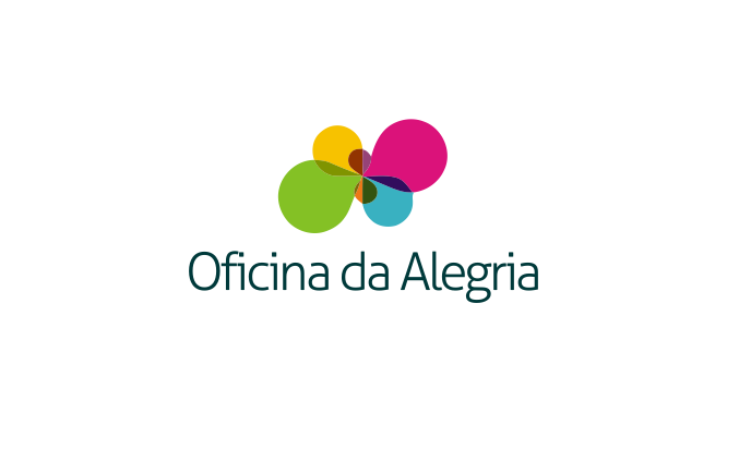 Create the next logo for Oficina da Alegria by N Dee's