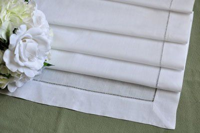 White hemstitched linen table runner 18x72 by bumblebee linens white hemstitched linen table runner 18x72 by bumblebee linens 3999 show junglespirit Choice Image
