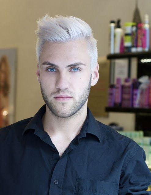 Platinum Shades For Men Guys With White Hair Mens Hair Colour White Hair Men