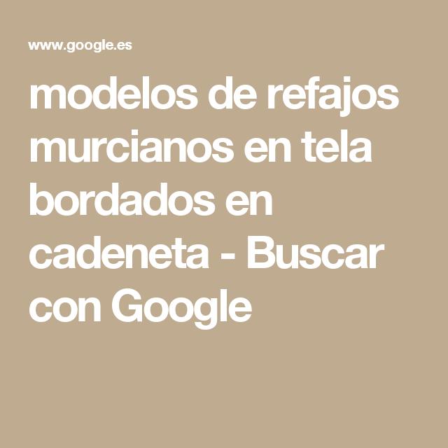 modelos de refajos murcianos en tela bordados en cadeneta - Buscar ...