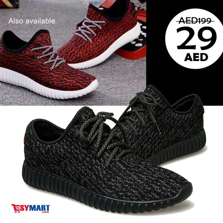 MyWay Yeezy Sneakers Shoes MW-0720 - RED / BLACK Available