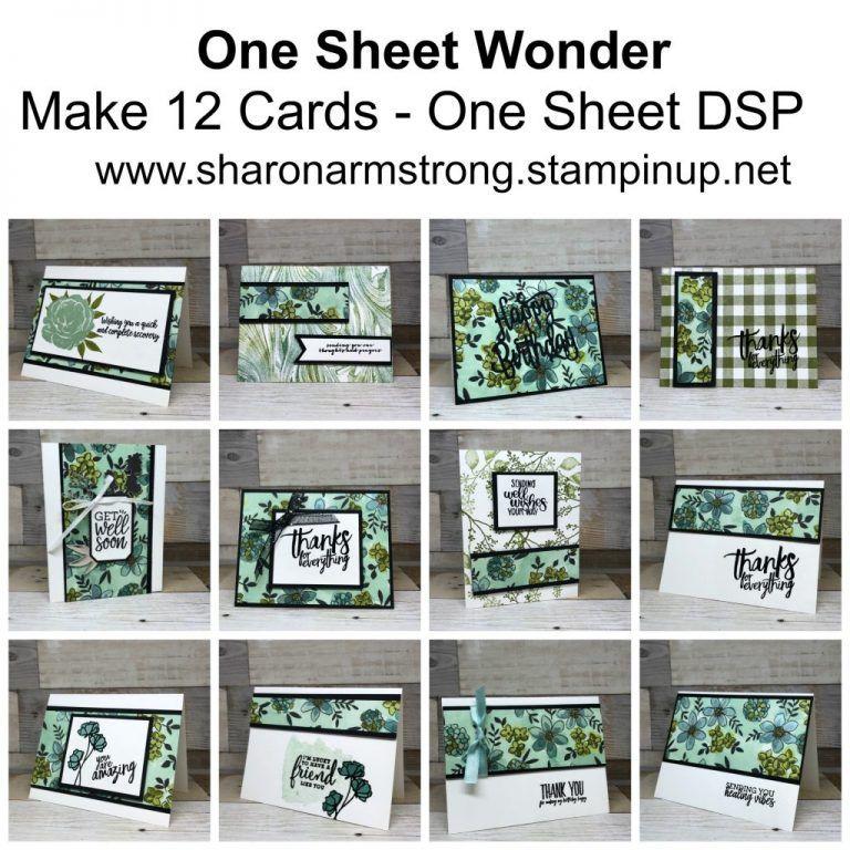 World Card Making Day One Sheet Wonder Tx Stampin Sharon One Sheet Wonder Card Making Templates Cards