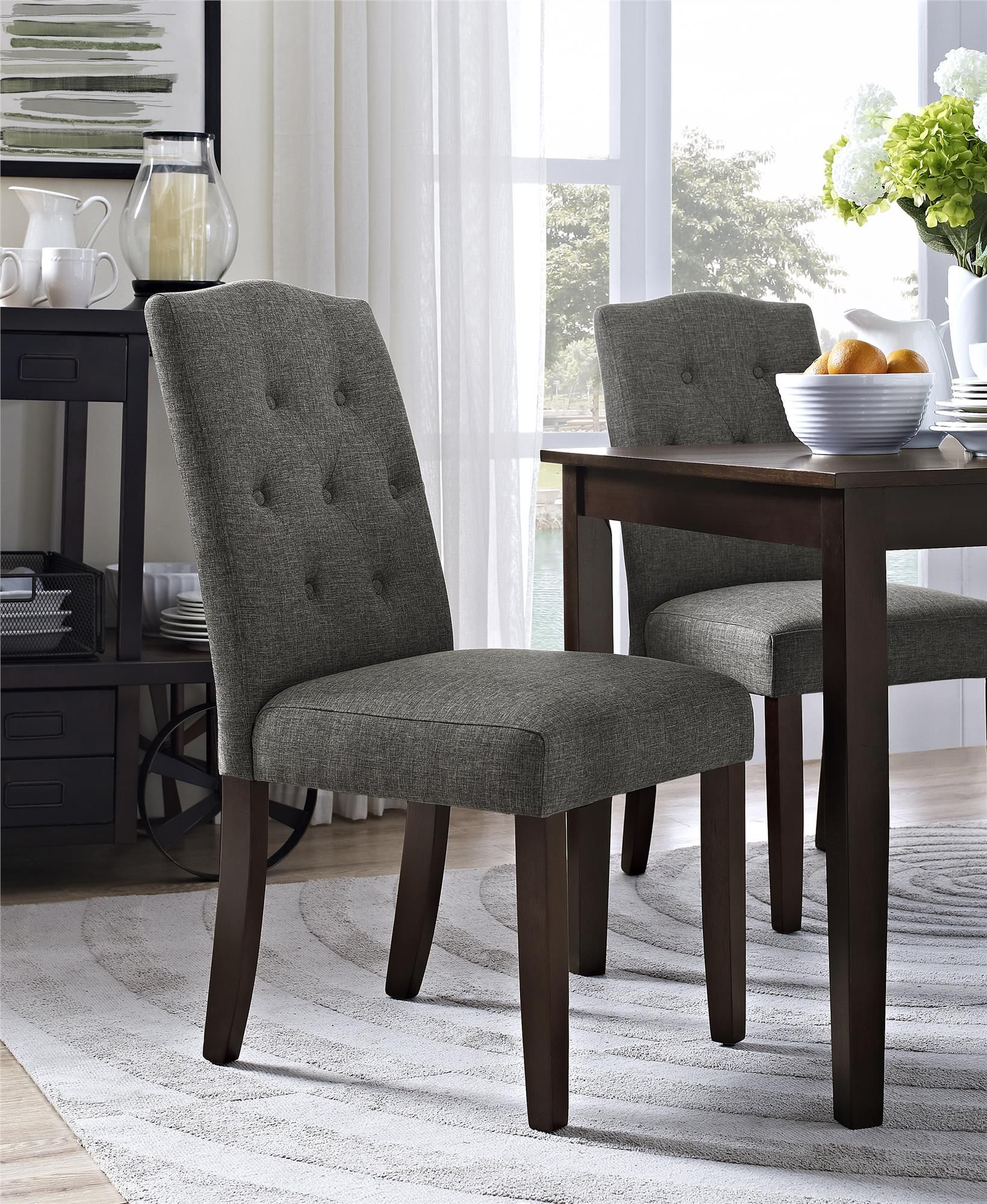 9492b7c16fc93b20028aa54a680e26cf - Better Homes And Gardens Parsons Tufted Dining Chair Beige