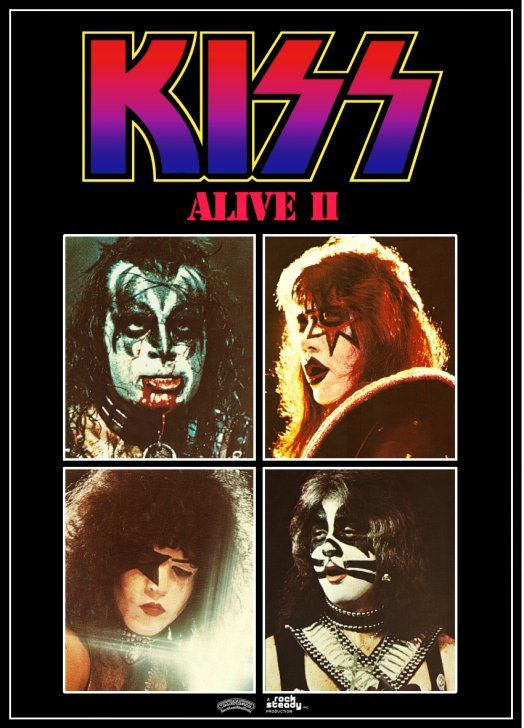 Kiss Rock Band Alive Ii Promo Stand Up Display 2 Reproduction