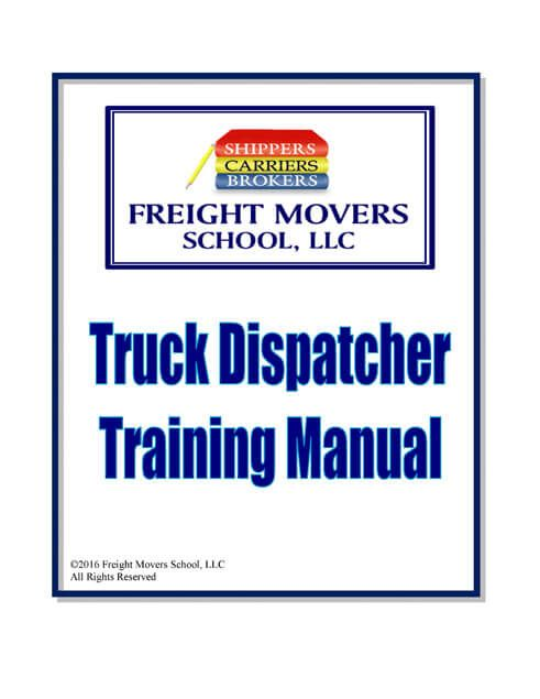 Truck Dispatcher Training Guide Freight Movers School Llc