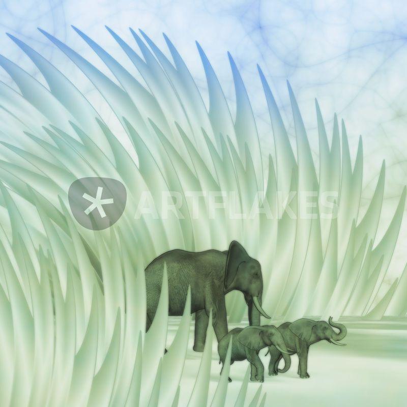 Elefants Walk - as Framed Print, Canvas Print and more.