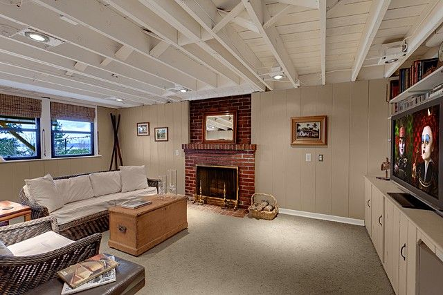 basement exposed painted ceiling either white or black on concrete basement wall paint colors id=77316